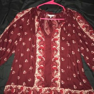Lucky brand floral long sleeve